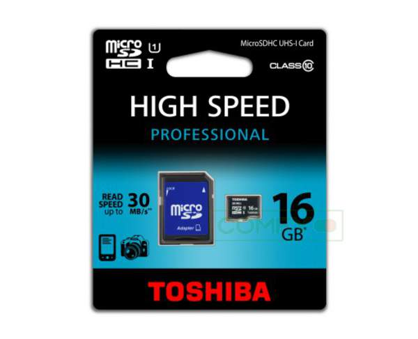 flash Toshiba micro SD 16GB class 10 + adapter M203 (шт.)