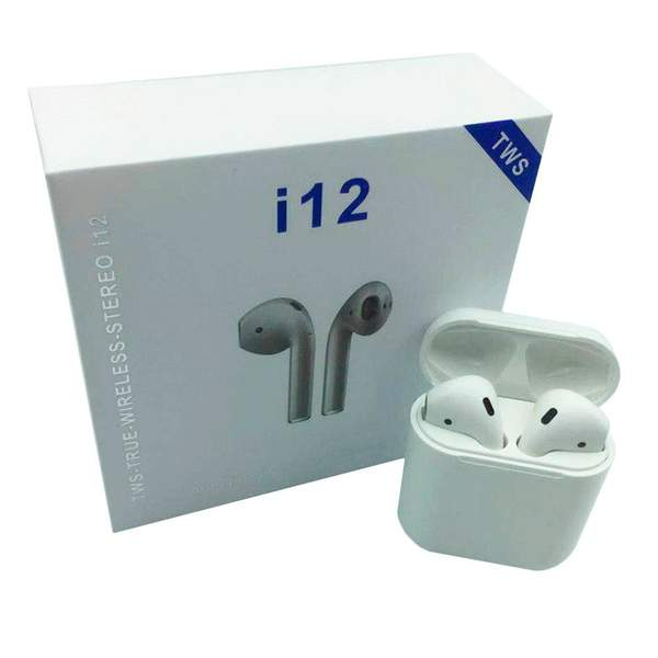 Наушники MDR AirPods i12 BT + сенсор + кейс (100) (шт.)