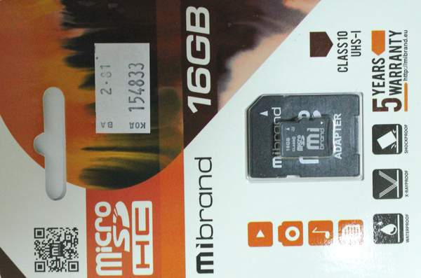 Mibrand  micro SD 16Gb class 10+ adapter UHS-1 (шт.)